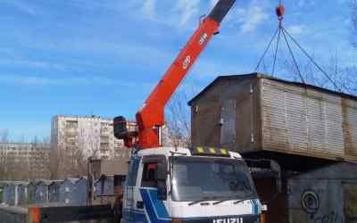 Перевозка гаражей, услуги манипулятора 10тонн - Кемерово, цены, предложения специалистов