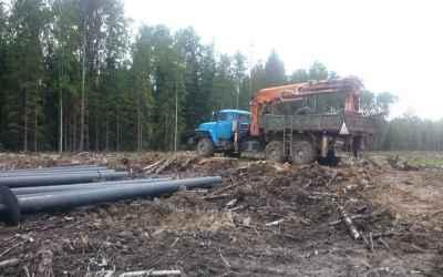 Монтаж больших винтовых свай установкой убм-85 - Кемерово