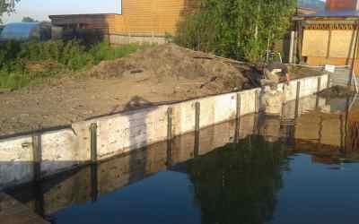Укрепление участка берега возле дачного участка - Новокузнецк, цены, предложения специалистов