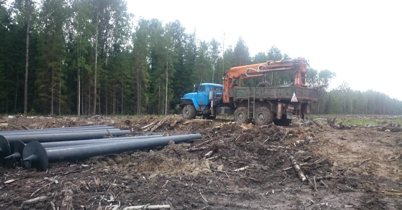 Монтаж больших винтовых свай установкой убм-85 - Кемерово, цены, предложения специалистов