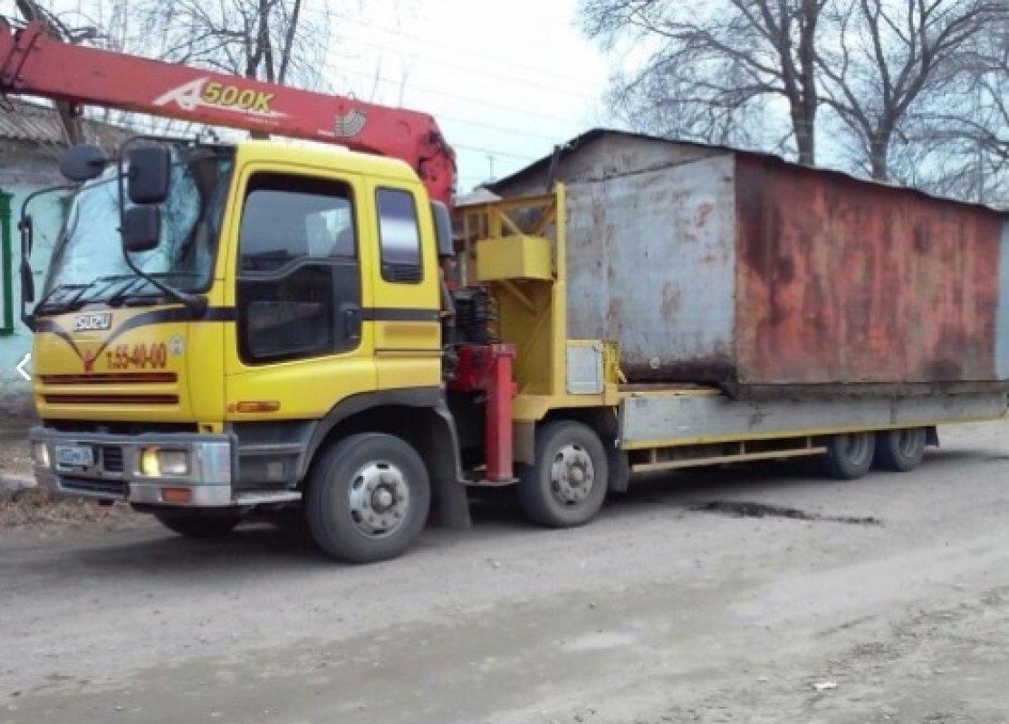 Перевозка гаражей, киосков и бытовок - услуги манипулятора до 15 тонн - Новокузнецк, цены, предложения специалистов