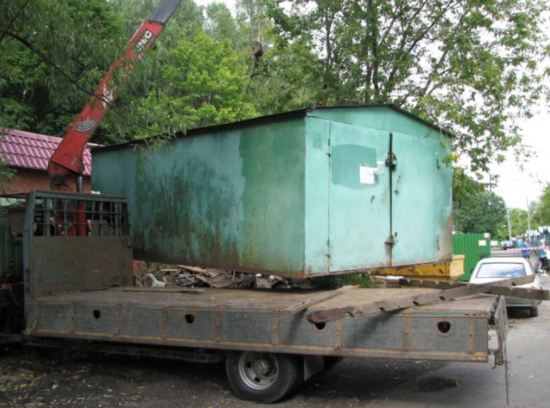 готовый гараж из бревна